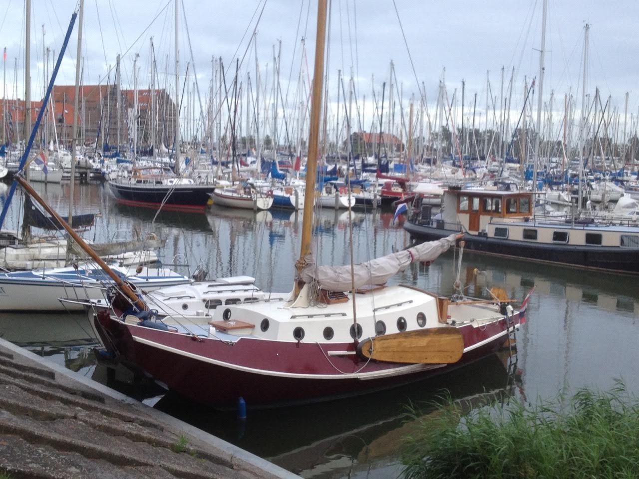 In de haven van Hoorn